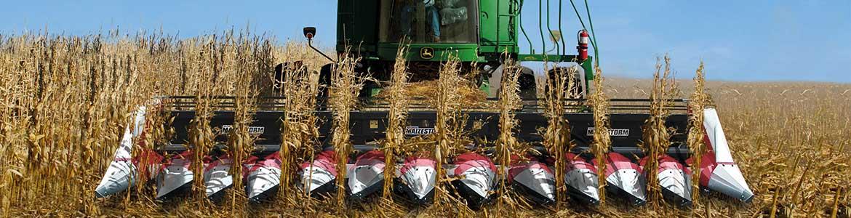Nardi harvesting Maizestorm es el cabezal por el maíz para todas tipo de cosechadoras (John Deere, Claas, Case, Massey Ferguson, New Holland).