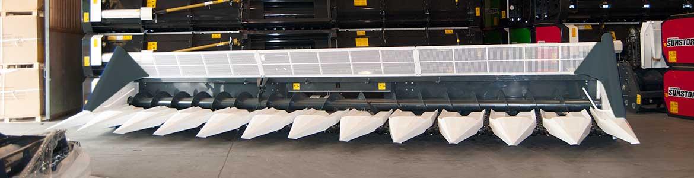 Sunstorm con bandejas, cabezal de girasol por todo tipos de cosechadoras (John Deere, Claas, Case, New Holland).
