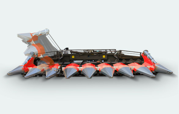foldable corn header for combine harvester
