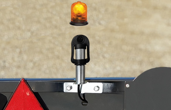 carrello portabarra con supporto lampeggiante
